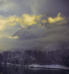 Pendling Sunset (JDM Photography) Tags: pendling austria innriver kufstein sunset snow winter