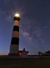 Bodie Lighthouse and Milky Way before Sunrise (Constantine L.) Tags: bodie island lighthouse north carolina nc obx outer banks milky way stars sky night sunrise blue light astrophoto astroscape nightscape starscape astrophotography canon 6d samyang 24mm long exposure landscape canter galaxy