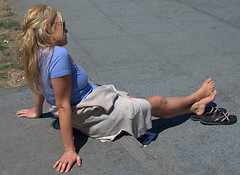 Relax (Scott 97006) Tags: woman female lady relaxing blonde shoes pretty tired beauty