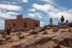 Village kids (s_andreja) Tags: mauritania ouadane village oasis mosque minaret kids