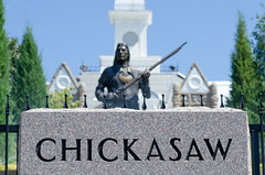 Chickasaw (dangr.dave) Tags: tishomingo ok oklahoma chickasaw downtown historic architecture indian nativeamerican statue chickasawnationalcapitolbuilding piominko minko enochkellyhaney