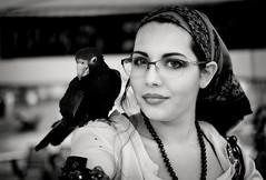 portrait at 2019 florida renaissance fest (Mircea D. Tagui) Tags: portrait portraitsofstrangers portraitatfestivals street streetphotography reinesancefestival beautiful girl parrot monochrome blackandwhite fujifilmxt2 fujinonxf35mmf14