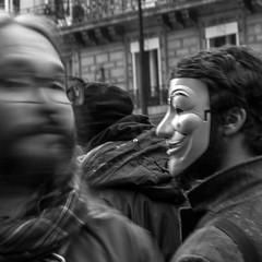 JANUS (zventure,) Tags: zventure noiretblanc paris portrait personne blackandwhite boulevard bougé flou filé monochrome masque inconnus