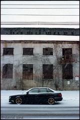 (david sine) Tags: linden nj newjersey car abandoned factory snow storm street stuff things canon canonae1 35mm color kodak portra film scannednegative