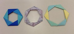 Expandable Hex Ring (maplecrane) Tags: origami modular toy actionmodel