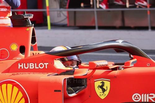 Sebastian Vettel in the Ferrari SF90 at Formula One Pre-Season Testing 2019