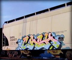 (timetomakethepasta) Tags: cash shpx grainer hopper freight train graffiti art
