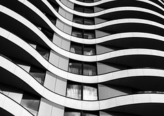 Waves #2 (Joseph Pearson Images) Tags: building architecture abstract london blackandwhite bw mono stantonwilliams riverwalkapartments