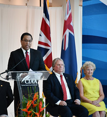 Premier speech CJ11ed (Cayman Islands Government Information Services) Tags: royalarrival27march cayman royal visit charles prince wales camilla duchess cornwall owen roberts international airport united kingdom great britain