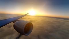[P3D v4.4]sunrise over pacific (danielrds) Tags: p3d aerosoft panc pmdg prepar3d sun narita rjaa tokyo simulation vatsim
