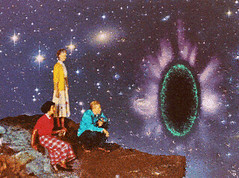 ap (woodcum) Tags: people looking portal hand somethingelse space stars cosmos cosmic surreal retro vintage gif gifanimation animation animated