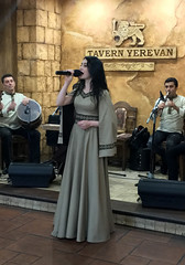 Tavern Yerevan (cowyeow) Tags: singing music tavern entertainment pretty beautiful attractive yerevan armenia caucuses food city candid woman girl people portrait restaurant dinner band traditional