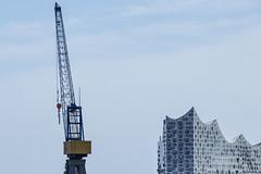 Elbphilharmonie Hamburg (bhermann.hamburg) Tags: hamburg elbphilharmonie elphi gebäude buildung kran crane himmel sky