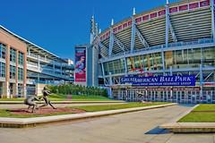Great American Ball Park, 100 Joe Nuxhall Way, Cincinnati, Ohio, USA / Built: 2003 / Architect: HOK Sport (now Populous) / Surface: Perennial Ryegrass / Capacity: 42,319 (2008–present) / Operator: Cincinnati Reds / Structural Engineer: Geiger / THP Ltd (Photographer South Florida) Tags: greatamericanballpark 100joenuxhallway cincinnati ohio usa built2003 architecthoksportnowpopulous perennialryegrass capacity42 3192008–present geiger thpltd cityscape city urban downtown density skyline skyscraper building highrise architecture centralbusinessdistrict hamiltoncounty cosmopolitan metropolis metropolitan metro commercialproperty buckeyestate realestate tallbuilding commercialdistrict commercialoffice residential condominium carewtower greatamericantower ohioriver mtadams pricehill pnctower fountainsquare proctergamble newport kentucky covington cincinnatiunionterminal ludlow kentoncounty mtechopark riverboat scrippscenter riverfront skystarobservationwheel