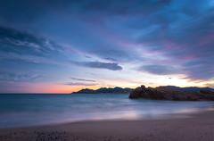 Sunset sur la Côte d'Azur (c.bouvard) Tags: cannesmer mer sunset landscape paysage pentax poselongue longexposure sea beautiful bluehour golden hour cannes beach plage