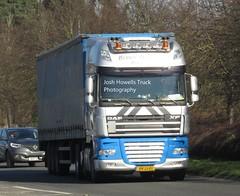 Bernts Transport BV-JJ-01 (Holland) at Welshpool (Joshhowells27) Tags: lorry truck daf xf dafxf curtainsider bvjj01 holland dutch berntstransport foreign foreigner