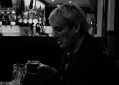 What Katie Did Next (Nick White2009) Tags: portrait monochrome black white drink beer bar club person people portsmouth fratton friday life hair hampshire england uk britain