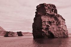 Ladram Bay, Devon, England....Jan 2019 (devonpaul) Tags: ladram bay puffin rock sea sepia devon coast jurassic puffinrock ladrambay england red sandstone holliday park winter