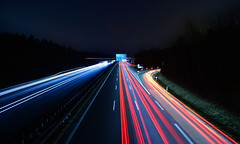 Munich - A99 (cnmark) Tags: münchen bayern deutschland munich bavaria germany neuherberg autobahn expressway ausfahrt exit traffic light trails verkehr lichtspuren night nacht nachtaufnahme noche nuit notte noite ©allrightsreserved