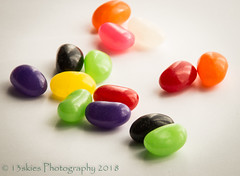 Yummy (13skies (Physio)) Tags: jellybeans candy yummy colours colors sony red black orange green sugar tasty taste chew swallow