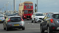 Afternoon Tea in the Traffic. Sussex. (ManOfYorkshire) Tags: cuv333c rml2333 routemaster bus hove seafront dining afternoon tea service sussex restored history nostalgia finedining traffic road statue england gb uk