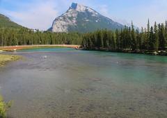 Cascade Mountain and Bow River (Yesi Santacruz) Tags: canadianrockies nature mountain river water banffnationalpark canada alberta banff bowriver cascademountain