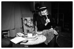Brunhild Ferrari in conversation with David Grubbs @ Cafe Oto, London, 14th February 2019 (fabiolug) Tags: fortunecookies fortunecookie hat book brunhildferrari davidgrubbs conversation talk lucferrari lucferrarifestival stereospasmsfestival composer compositions cafeoto london dalston music gig performance concert live livemusic leicammonochrom mmonochrom monochrom leicamonochrom leica leicam rangefinder blackandwhite blackwhite bw monochrome biancoenero 35mmsummicronasph 35mmf2summicronasph summicronm35mmf2asph summicron35mmf2asph 35mm summicron leicasummicron leica35mm