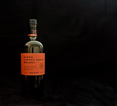 Nikka Coffey Grain Whiskey (tpeters2600) Tags: canon eos7d tamronspaf1024mmf3545diiildasphericalif canonspeedlight430exii whiskey bottle stilllife