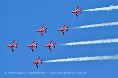 9922 7 ship R1 R2 R3 R5 R6 R7 R9 (photozone72) Tags: raf rafat redarrows reds redwhiteblue aviation aircraft jets hawk canon canon100400f4556lii canon7dmk2 7dmk2 scampton lincolnshire