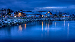 Blue hour Sidney Pier (kellypettit) Tags: bluehour earlylight dawn vancouverisland sidney bc explore warm cold