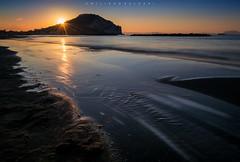 Sunbath. (Emykla) Tags: napoli campiflegrei nikond3100 mare sea sunrise dawn sand waves onde sabbia blue blu campania miliscola bacoli