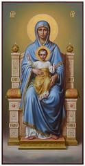 Богоматерь на престоле
