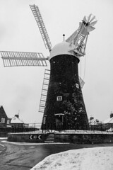 Holgate Windmill in snow, February 2019 - 04