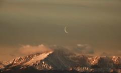 The Colorado Rockies (Chamblin1) Tags: rockymountains colorado winter snow mountains dawn landscape moon crescent