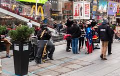 Music for All (Jocey K) Tags: sonydscrx100m6 triptocanadaandnewyork architecture buildings street people words signs timessq billboards streetperformers