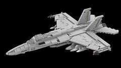 F-18E Super Hornet (Jonah T Padberg) Tags: f18 lego hornet super aircraft plane scale usaf navy