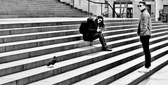 Waiting On A Friend (jaykay72.) Tags: london uk street candid streetphotography stpaulscathedral stphotographia blackandwhite bw