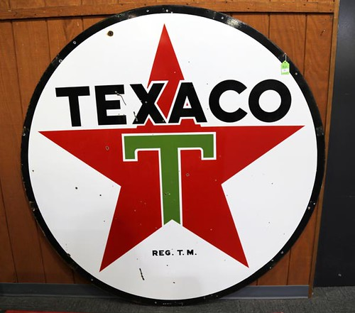 Texaco Porcelain Double Sided ($1,960.00)