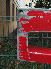 Red Barrier Rorschach (mkorsakov) Tags: dortmund city innenstadt klinikviertel rorschach schranke barrier foundface rot red
