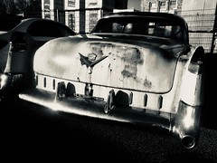 Charming rust (salparadise666) Tags: nils volkmer cadillac bw black white rusty monochrome digital car old wreck hannover niedersachsen germany detail contrast