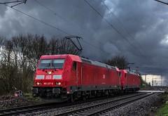 02_2019_03_17_Gelsenkirchen_Bismarck_6185_227_&_205_DB_Lz ➡️ Herne_Abzw_Crange (ruhrpott.sprinter) Tags: ruhrpott sprinter deutschland germany allmangne nrw ruhrgebiet gelsenkirchen lokomotive locomotives eisenbahn railroad rail zug train reisezug passenger güter cargo freight fret bismarck db öbb rccde sieag 0077 1016 6140 6145 6185 6193 ecr setg schweerbau logo natur outdoor graffiti wolken
