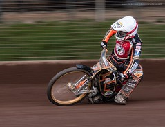 Speedway! (kimbenson45) Tags: leicester action bike black colorful colors colourful colours competition competitor fence helmet motion motorbike motorcycle motorsport movement orange outdoors pan panning race racing red rider spectators speedway sport track white yellow appicoftheweek