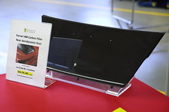 IMG_8639: Carbon Duct (i_am_lee_sam) Tags: ferrari club america art model literature show westmont il continental motorsports 488 carbon fiber aerodynamic duct