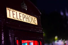 London Telephone Box (Theo Crazzolara) Tags: london telephone box telephonebox city red bokeh vacation tourism highlight calling night light nighlife uk great britain beautiful eu europe royal ancient phone