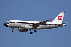 A319 (G-EUPJ) British Airways (BEA Retro) (boeing-boy) Tags: mikeling boeingboy a319 bea britishairways geupj heathrow