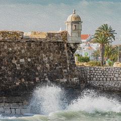 Beauty of the Algarve 4 (Gene Mordaunt) Tags: portugal lagos thealgarve fortress sea water ocean waves nikon810 castelodosgovernadores harbour