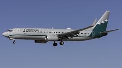 N916NN_LAS_Landing_26L_Reno_Air (MAB757200) Tags: americanairlines b737823 n916nn renoairheritagejet aircraft airplane airlines airport jetliner landing las klas mccarran boeing runway26l