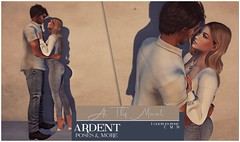 Ardent Poses - At This Moment Ad (Ardent Poses) Tags: secondlife second life sl avatar 2nd 2ndlife avi virtual vr 3d inworld poses pose ardent photography people exclusive avatars event love couple couples release new hold broderick logan ena roane enaroane bento advertisement sidewalk sale ardentposes