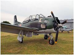 "T-28A Fennec N°82 ""Big Lolo"" (Aerofossile2012) Tags: t28a fennec n°82 biglolo trojan northaviation meeting airshow laferté 2017"