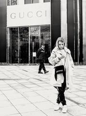 Street corner, #Shanghai (Runen LIU) Tags: shanghai gucci shop mall woman girl